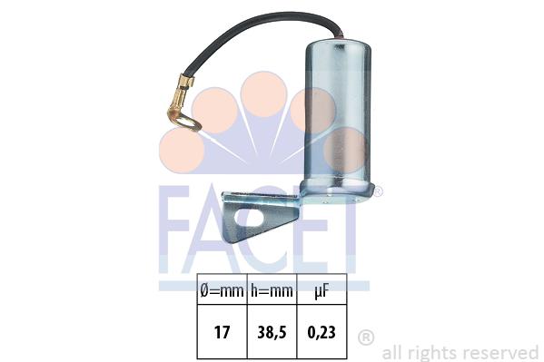 Condensateur d'allumage FACET 0.0326 (X1)
