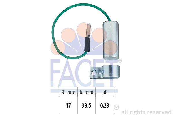 Condensateur d'allumage FACET 0.0334 (X1)