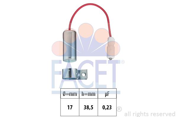 Condensateur d'allumage FACET 0.0339 (X1)