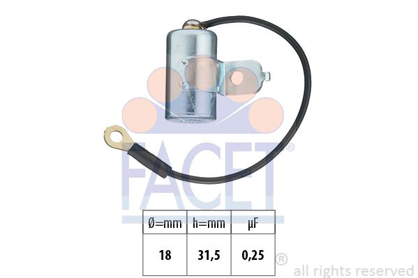 Condensateur d'allumage FACET 0.0397 (X1)