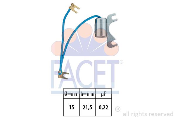 Condensateur d'allumage FACET 0.0534/5 (X1)