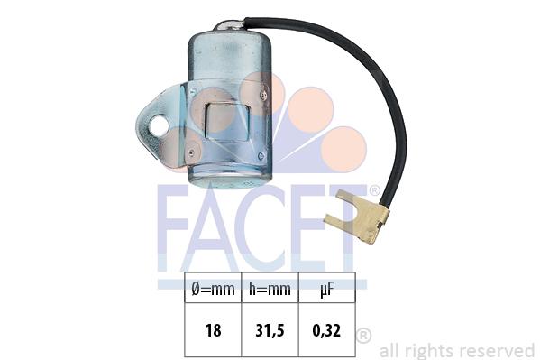 Condensateur d'allumage FACET 0.0594 (X1)