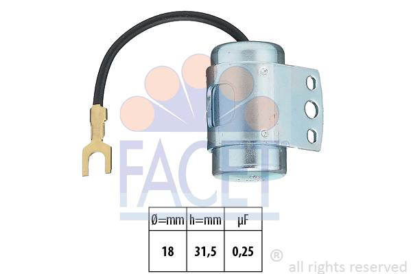 Condensateur d'allumage FACET 0.0608 (X1)