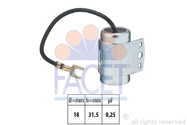 Condensateur d'allumage FACET 0.0612 (X1)