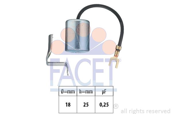Condensateur d'allumage FACET 0.0617 (X1)