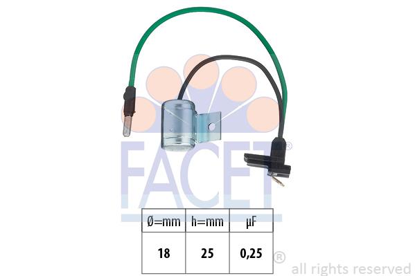 Condensateur d'allumage FACET 0.0627 (X1)