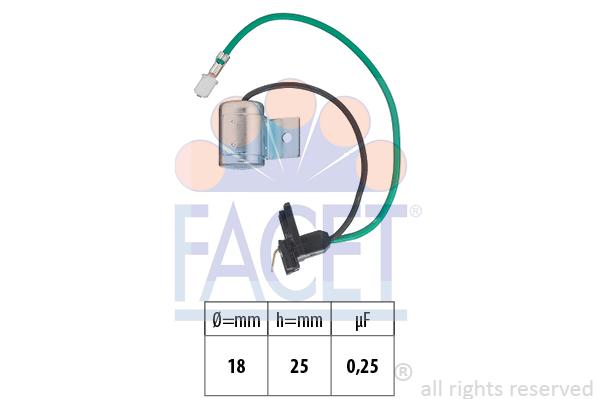 Condensateur d'allumage FACET 0.0628 (X1)