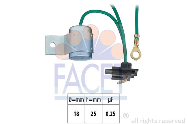 Condensateur d'allumage FACET 0.0633 (X1)