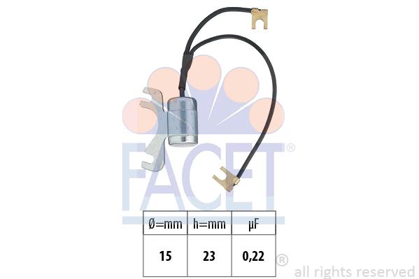 Condensateur d'allumage FACET 0.0675/31 (X1)