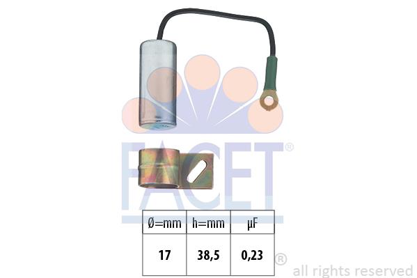 Condensateur d'allumage FACET 0.0856 (X1)