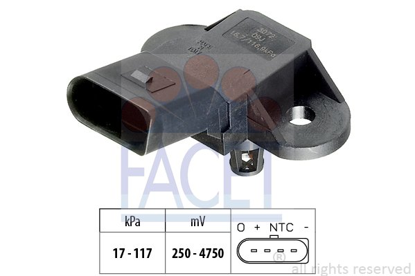 Capteur de pression FACET 10.3072 (X1)