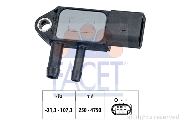 Capteur, pression des gaz échappement FACET 10.3265 (X1)