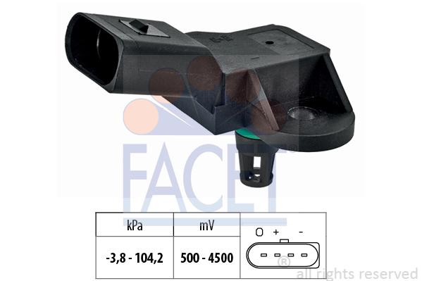 Capteur de pression, servo-frein FACET 10.3280 (X1)