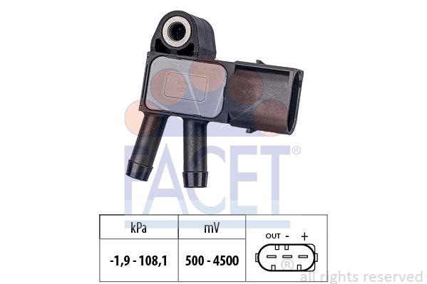 Capteur, pression des gaz échappement FACET 10.3294 (X1)