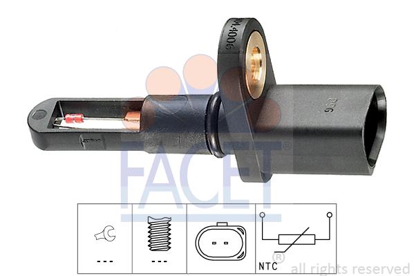 Capteur, température de l'air d'admission FACET 10.4006 (X1)