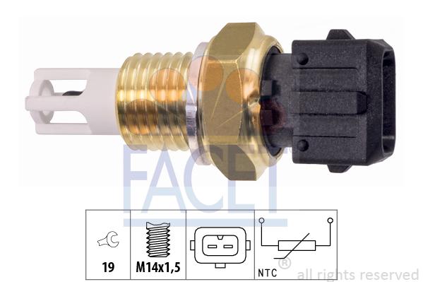 Capteur, température de l'air d'admission FACET 10.4016 (X1)