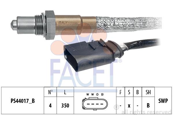 Sonde lambda FACET 10.8252 (X1)