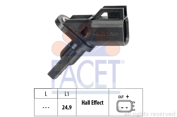 Capteur ABS FACET 21.0001 (X1)