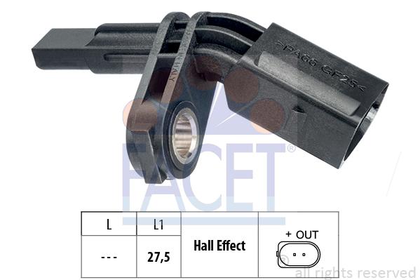 Capteur ABS FACET 21.0007 (X1)