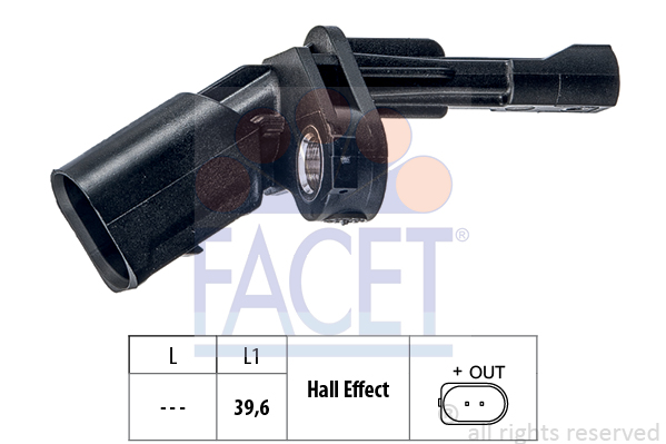 Capteur ABS FACET 21.0009 (X1)