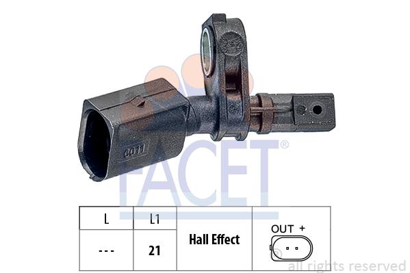 Capteur ABS FACET 21.0011 (X1)