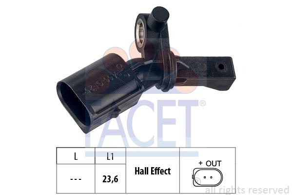 Capteur ABS FACET 21.0012 (X1)