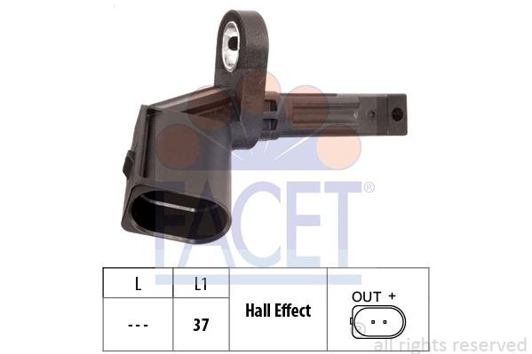 Capteur ABS FACET 21.0014 (X1)