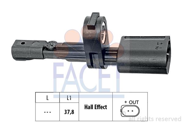 Capteur ABS FACET 21.0017 (X1)