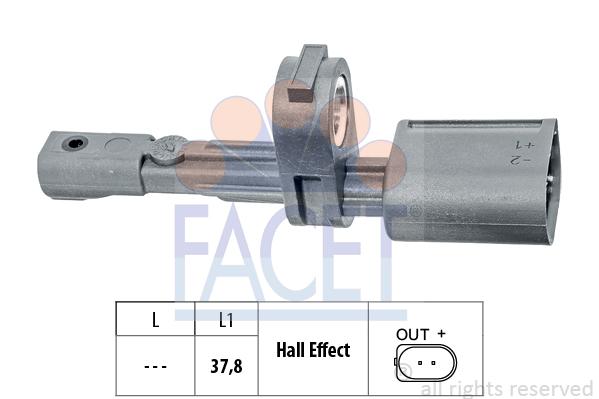 Capteur ABS FACET 21.0134 (X1)