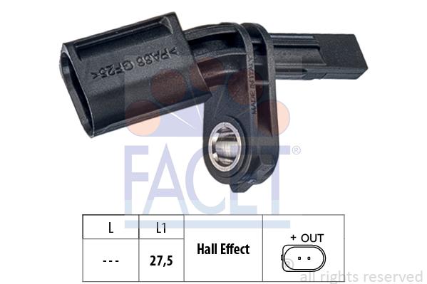 Capteur ABS FACET 21.0173 (X1)