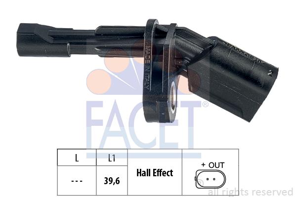 Capteur ABS FACET 21.0174 (X1)