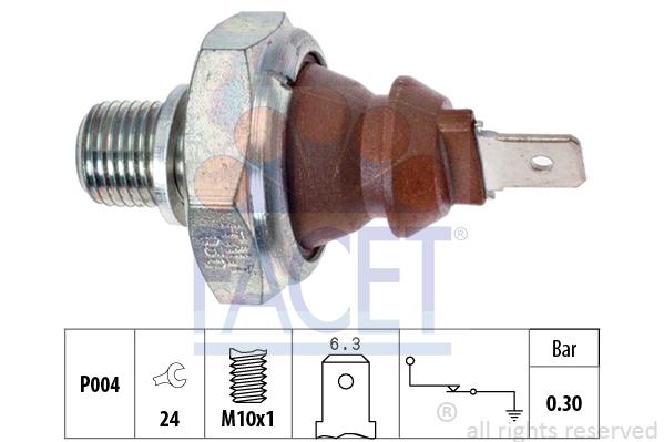 Capteur, pression d'huile FACET 7.0008 (X1)