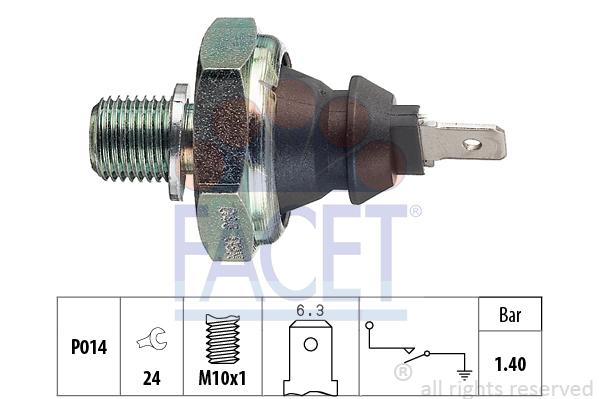 Capteur, pression d'huile FACET 7.0046 (X1)