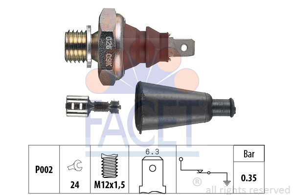 Capteur, pression d'huile FACET 7.0060 (X1)