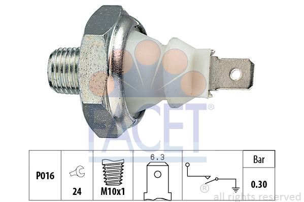 Capteur, pression d'huile FACET 7.0085 (X1)