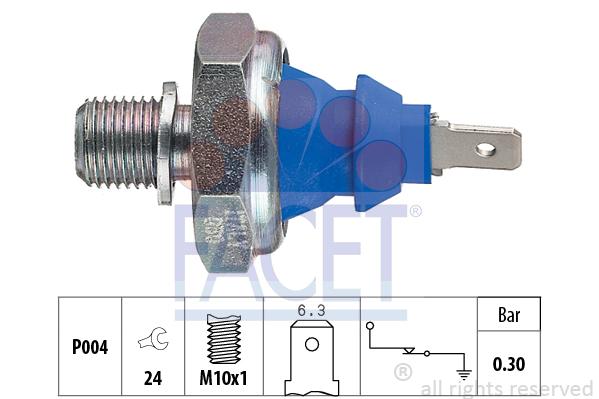 Capteur, pression d'huile FACET 7.0108 (X1)