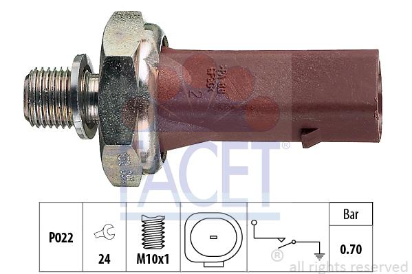 Capteur, pression d'huile FACET 7.0132 (X1)