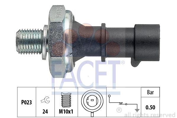 Capteur, pression d'huile FACET 7.0141 (X1)