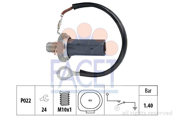 Capteur, pression d'huile FACET 7.0159 (X1)