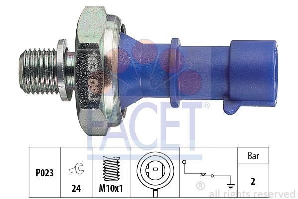 Capteur, pression d'huile FACET 7.0163 (X1)