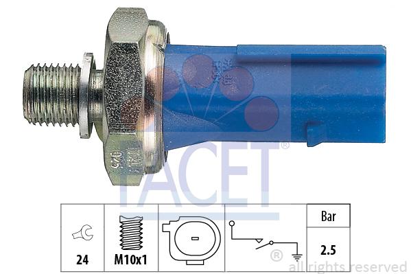Capteur, pression d'huile FACET 7.0192 (X1)