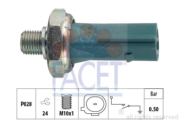 Capteur, pression d'huile FACET 7.0196 (X1)