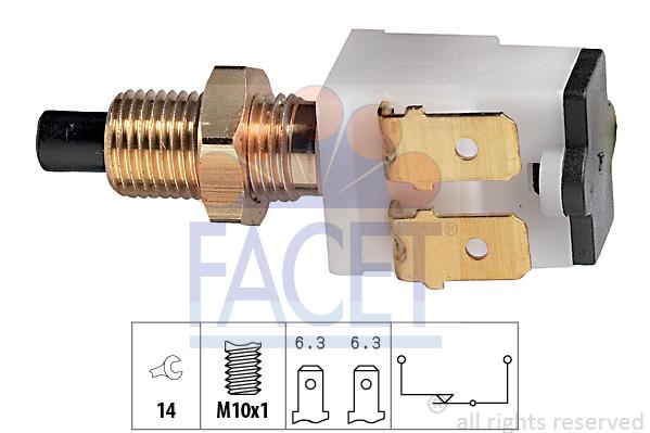Contacteur de feu stop FACET 7.1008 (X1)