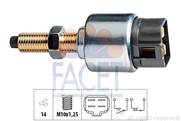 Contacteur de feu stop FACET 7.1044 (X1)