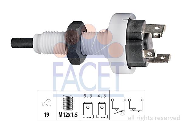 Contacteur de feu stop FACET 7.1049 (X1)