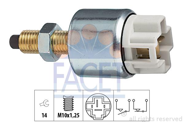 Contacteur de feu stop FACET 7.1053 (X1)