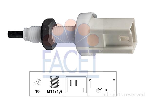 Contacteur de feu stop FACET 7.1066 (X1)