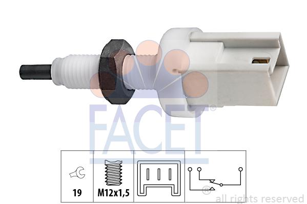 Contacteur de feu stop FACET 7.1067 (X1)