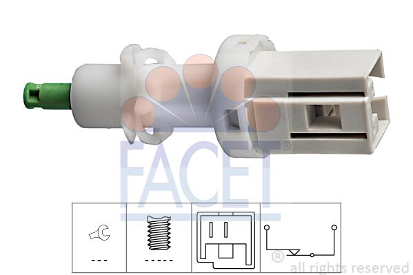 Contacteur de feu stop FACET 7.1068 (X1)