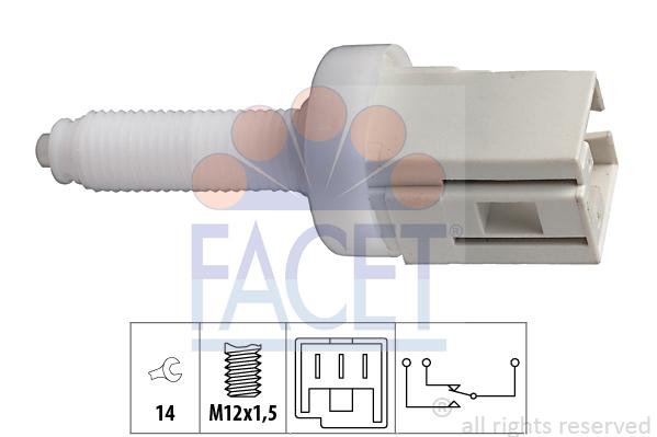 Contacteur de feu stop FACET 7.1077 (X1)